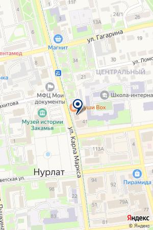 СУД НУРЛАТСКОГО РАЙОНА на карте Нурлата