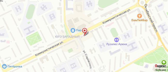 Карта расположения пункта доставки Ростелеком в городе Сыктывкар