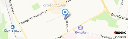 Жилищно-управляющая компания-9 на карте Сыктывкара