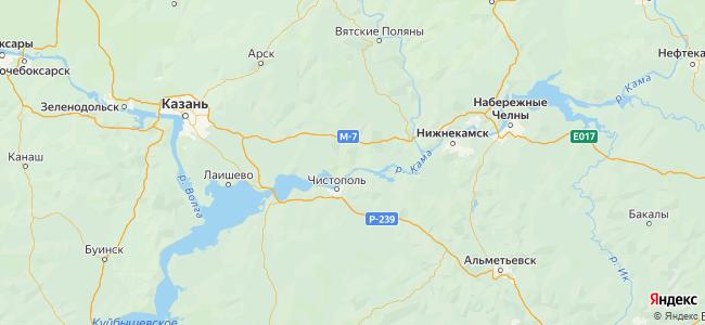 Татарстан - объекты на карте