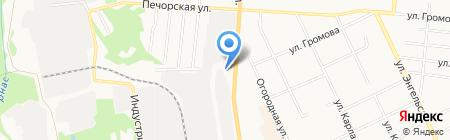 Теплицы на Октябрьском на карте Сыктывкара