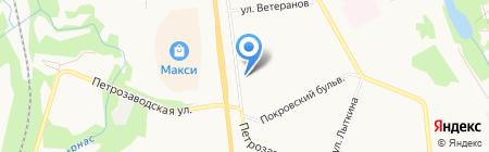 Фрегат на карте Сыктывкара