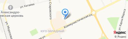 Англетика на карте Сыктывкара