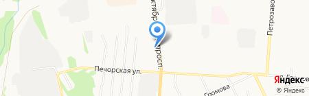 ЁН на карте Сыктывкара