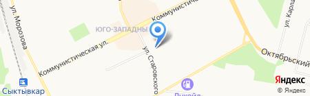 Сыктывкарский водоканал на карте Сыктывкара