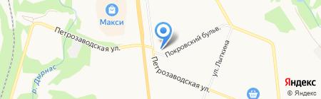 Башмачок на карте Сыктывкара