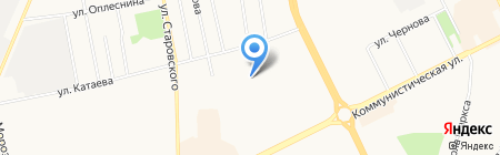 Рябинушка на карте Сыктывкара