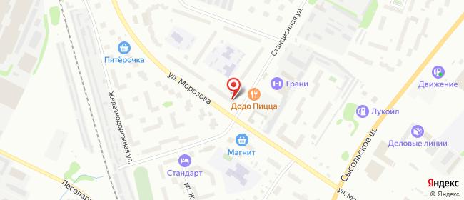 Карта расположения пункта доставки Сыктывкар Морозова в городе Сыктывкар