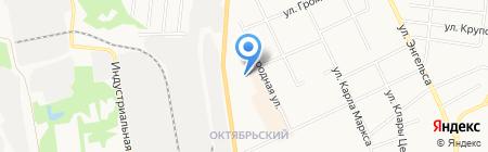 Леда на карте Сыктывкара