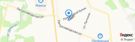Бисер на карте Сыктывкара