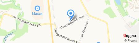 Градус на карте Сыктывкара