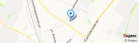 Давпон на карте Сыктывкара