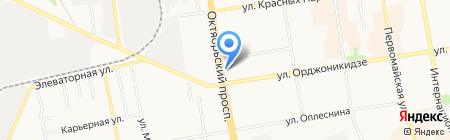 Релайтер на карте Сыктывкара