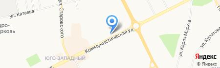 Абажур на карте Сыктывкара