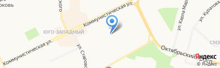 Ренова на карте Сыктывкара