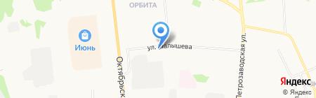 Продовольственный магазин на ул. Малышева на карте Сыктывкара