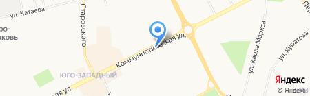 Ридер на карте Сыктывкара