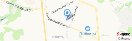 Зарни на карте Сыктывкара
