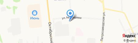 Магазин печатной продукции на ул. Малышева на карте Сыктывкара