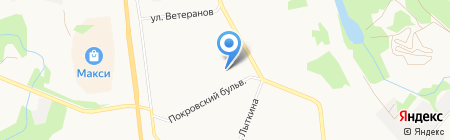 Автостоянка на карте Сыктывкара