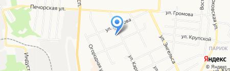 Центральная поликлиника г. Сыктывкара на карте Сыктывкара