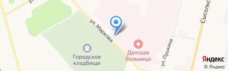 Медтехника на карте Сыктывкара