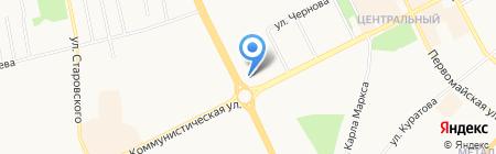 ЮТэйр-Экспресс на карте Сыктывкара