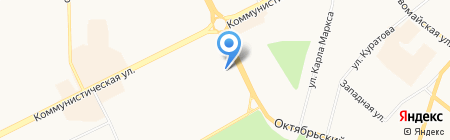 Линза на карте Сыктывкара