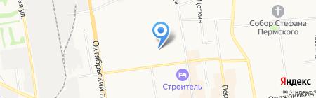 ВДОХНОВЕНИЕ на карте Сыктывкара