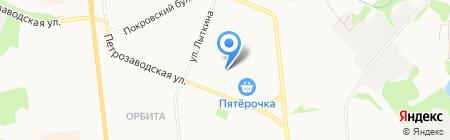 Янтарный на карте Сыктывкара
