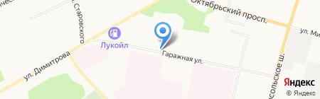 Автоспектр на карте Сыктывкара