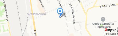 Ромарио на карте Сыктывкара