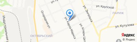Колибри на карте Сыктывкара