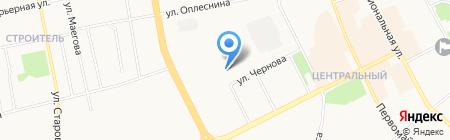 Валентина на карте Сыктывкара