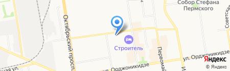 Юаси на карте Сыктывкара