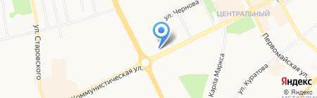 Почтовое отделение №6 на карте Сыктывкара