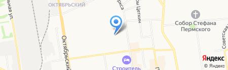 Выльгортские зори на карте Сыктывкара