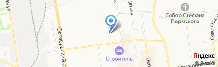 Алстар на карте Сыктывкара