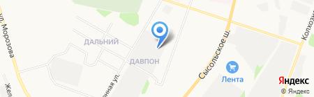 Бабичев В.Н. на карте Сыктывкара