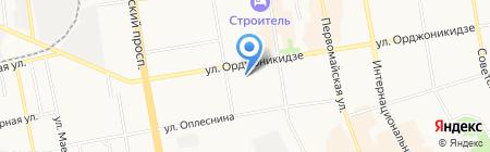 Барракуда на карте Сыктывкара