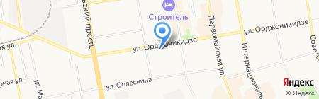 Барристер на карте Сыктывкара