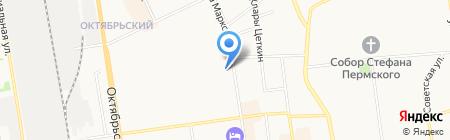 Людмила на карте Сыктывкара
