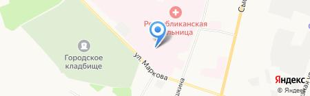 Консультативная поликлиника на карте Сыктывкара