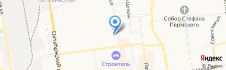 Аарон на карте Сыктывкара