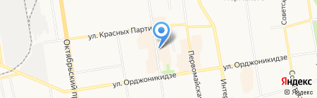 Вестфалика на карте Сыктывкара