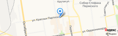 Строительное управление-2 на карте Сыктывкара