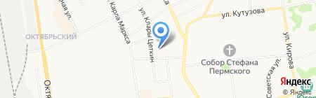 На Крутой на карте Сыктывкара
