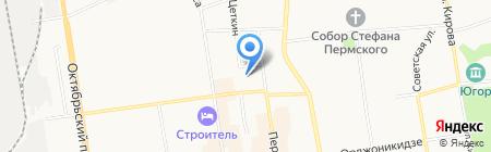 Шатура на карте Сыктывкара