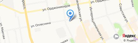 Молоток на карте Сыктывкара
