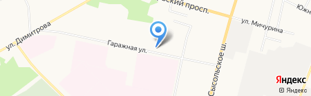 Автовелл на карте Сыктывкара